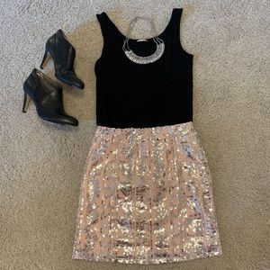 Charlotte Russe - Pink and Silver sequined skirt